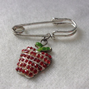 Jewelry - Apple charm saftey pin